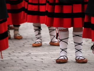 Basque folclorical dance dress