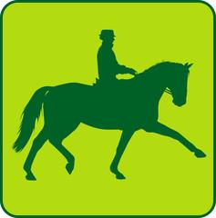 Dressurreiter 2 Green