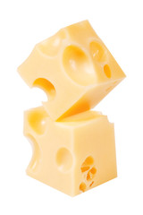 Two cubes of cheese