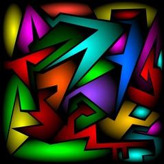 Spoed Foto op Canvas Klassieke abstractie astratto colorato