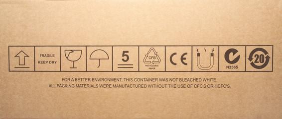 Cardboard box symbols