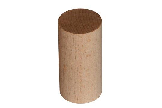 Zylinder Baustein aus Holz