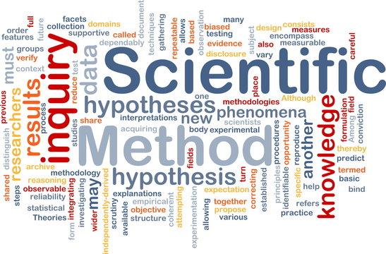 Scientific method background concept