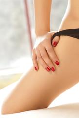 sexy woman took off her underwear