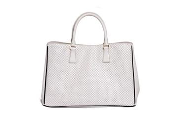 white bag on white background