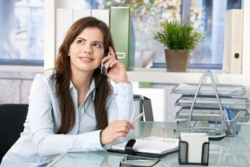 Female assistant on phone