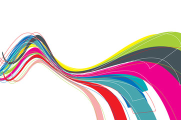 rainbow wave line background