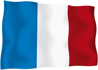 France - French flag - Vector