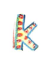 アルファベット小文字k