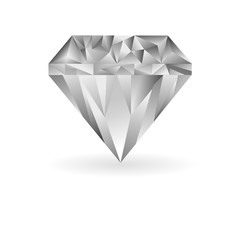 cool diamond vector illustration on a white background