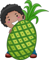 Boy with Pineapple