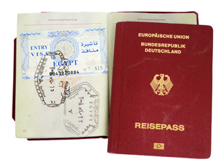 german passport with egypt visa