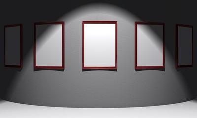 3d Ausstellung - Licht und Schatten - Blanko -  rot grau