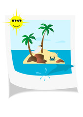 Illustration of a seaside photo