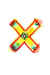 アルファベット大文字X