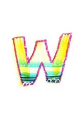 アルファベット大文字W