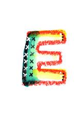 アルファベット大文字E
