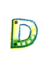 アルファベット大文字D