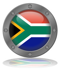 South African Flag Web Button (Republic of South Africa Vector)