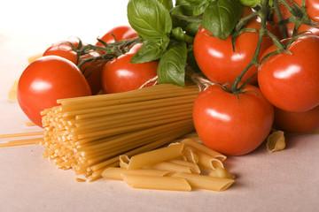 Macaroni pasta isolated on white background