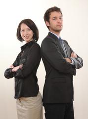 Mann und Frau Geschäftspartner