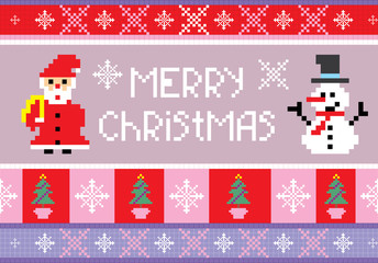 christmas embroidery seamless background