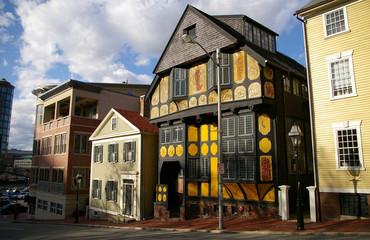 Rue à Providence dans le Rhode-Island aux États-Unis