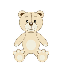 Vector fun bear
