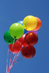 Group of balloons in the sky..