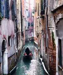 Little side canal in Venice