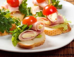 Ham canape