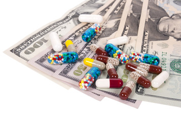 capsules and US dollars