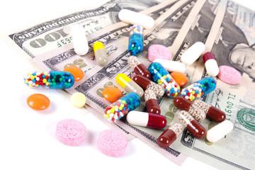 Pills, capsules and US dollars