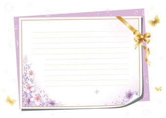 Blank paper for romantic messages
