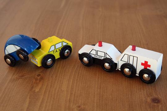 Accident de la route, intervention police et ambulance