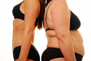 Fat and thin body shape