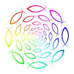 Regenbogen - ICHTHYS Mandala