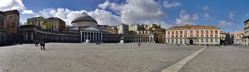 Panoramic view of San Francesco di Paola church; Naples; Italy