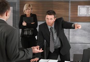 Executive firing employee