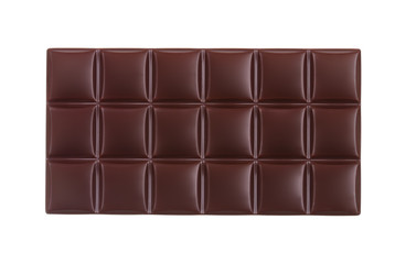 Clean photo of dark chocolate bar