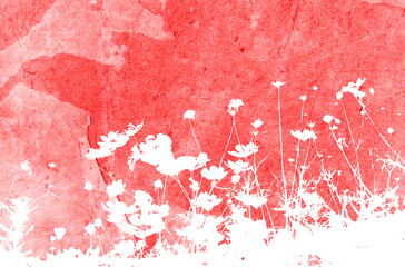 Wall Murals Candy pink floral style textures with space for text or image
