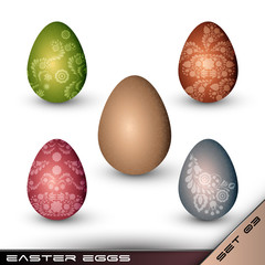 Set of Traditionally Painted Easter Eggs