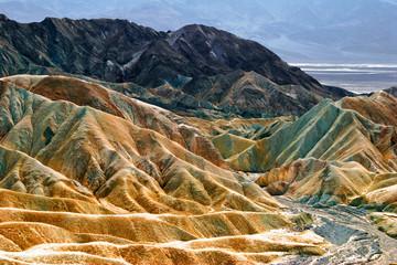 Lifeless landscape of Death Valley . Zabriski point. California