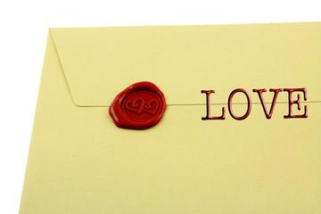 lettre d'amour, fond blanc