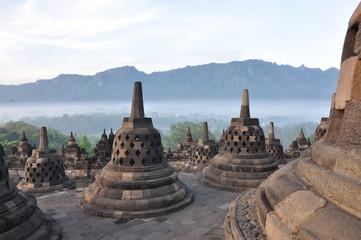 Fotobehang Indonesië Borobudur Stupa