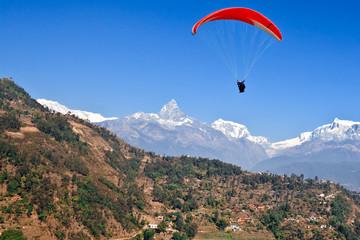 Wall Murals Nepal Himalayan Paragliding