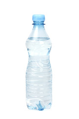 bottle with water isolated on white