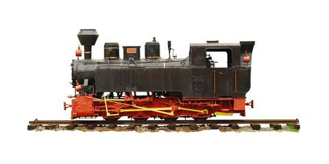 vintage locomotive isolated