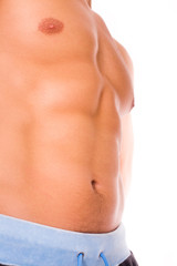 Men's abdominal muscles