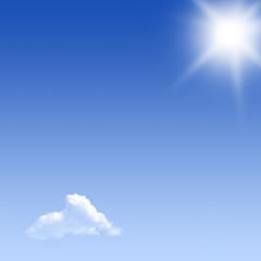 ciel nuage soleil bleu été pur air respirer vacances